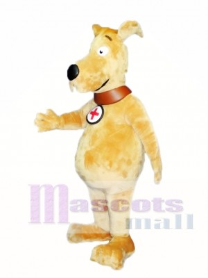 Cute Gold Dog Mascot Costume