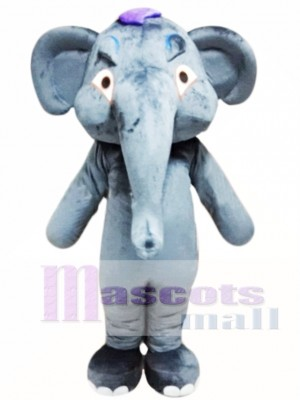 Grey Adult Elephant Mascot Costume