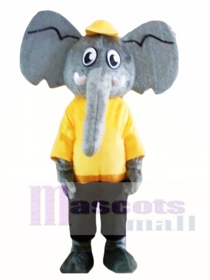 Adult Grey Elephant Mascot Costume