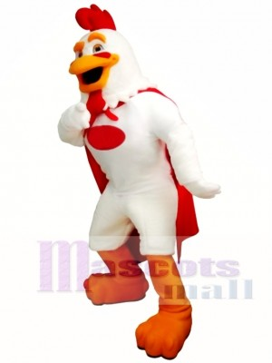 White Rooster Mascot Costume