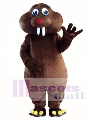 Brown Mole Mouse Mascot Costume