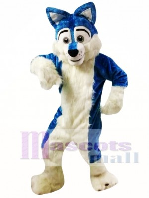 Blue Wolf Fursuit Mascot Costume