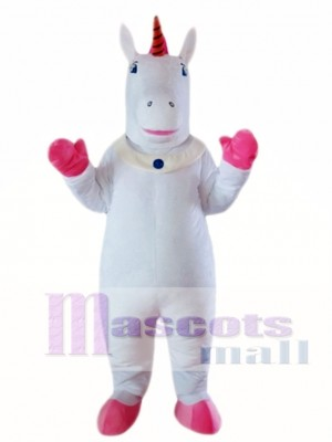 White Unicorn Mascot Costume