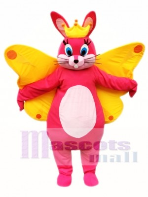 Butterfly Easter Bunny Mascot Costume