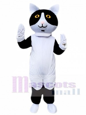 Black White Cat Mascot Costume