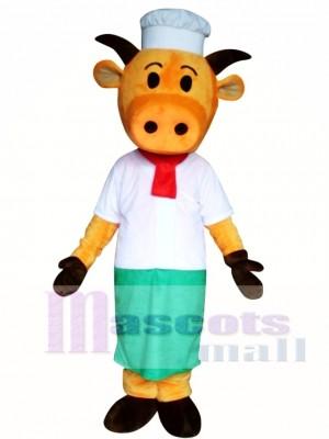 Hat Orange Cow Mascot Costume