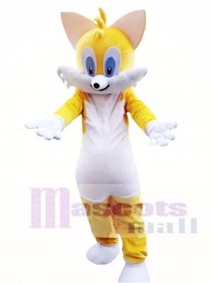 Yellow Cat Mascot Costume