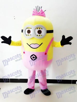 Despicable Me Pink Two Eyes Minions Mascot Costume