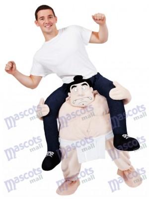 Carry Me Japanese Sumo Costume Wrestler Ride On Piggy Back Mascot Costume
