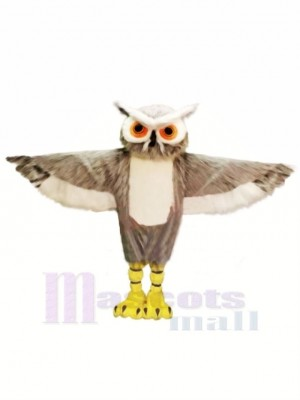 Grey Owl with Big Eyes Mascot Costumes Animal