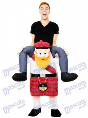 Piggy Back Scotsman Carry Me Scottish Mascot Costume Ride On Fancy Dress