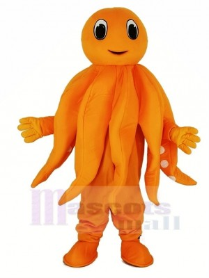 Orange Octopus Plush Adult Mascot Costume Cartoon
