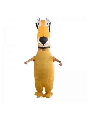 Funny Yellow Dog Inflatable Costume Halloween Christmas Costume for Adult