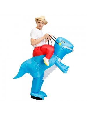 Dinosaur Ride on Inflatable Costume Blow up Costume for Adult/Child Blue