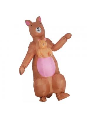 Kangaroo with Baby Kangaroo Inflatable Costume Halloween Christmas Costume For Adult