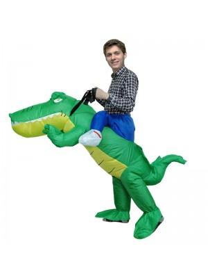 Crocodile Alligator Carry me Ride on Inflatable Costume Halloween Christmas for Adult/Kid