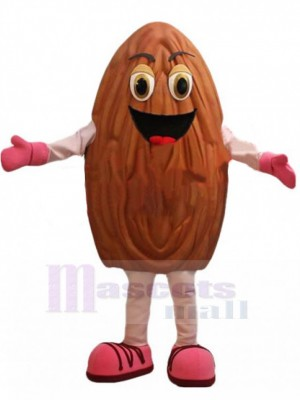 Happy Almond Mascot Costume
