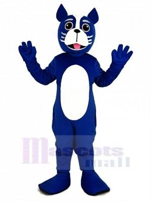 Blue Boston Terrier Dog Mascot Costume Animal