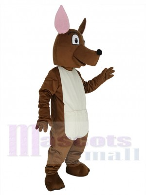 Joey Kangaroo with Pink Ears Mascot Costume Animal