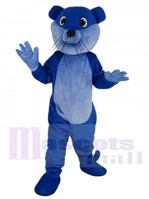 Royal Blue Ollie Otter Mascot Costume Animal