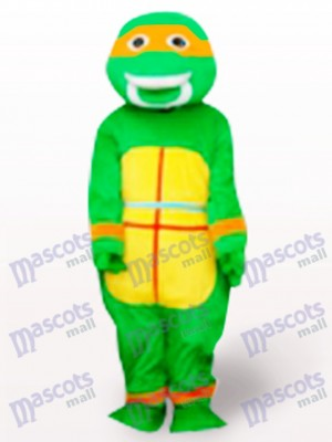 Orange Teenage Mutant Hero Turtles Adult Mascot Costume