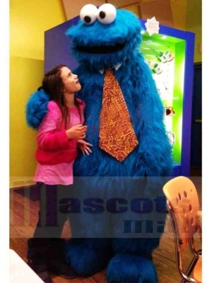 Superb Sesame Street Blue Cookie Monster Mascot Costume