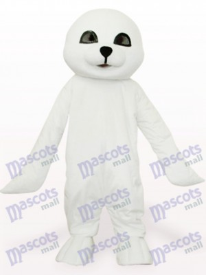 Lovely White Seal Ocean Adult Mascot Costume