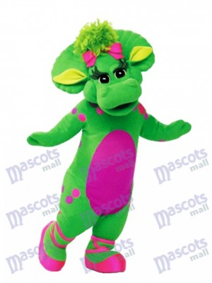 Barney Baby Bop Green Triceratops Mascot Costume Cartoon Anime