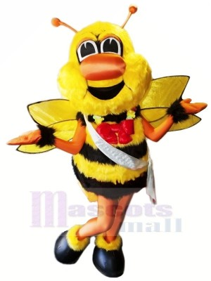 Battle Bee with Red Bow Mascot Costumes Animal