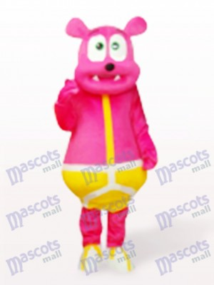 Pink Bear Monster Cartoon Mascot Costume
