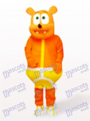 Yellow Bear Monster Cartoon Mascot Costume