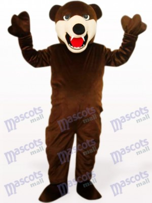 Deep Brown Bear Animal Mascot Costume