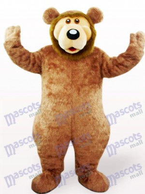 Brown Bear Animal Adult Mascot Costume