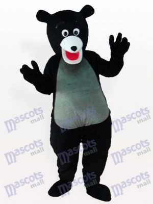 Obese Black Bear Animal Mascot Costume