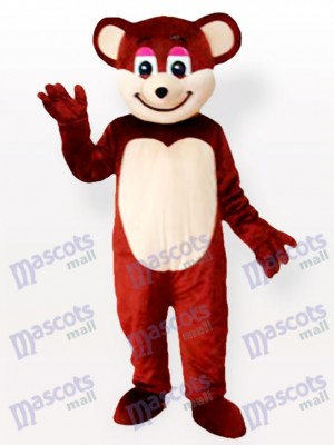 Smiling Brown Bear Animal Mascot Costume