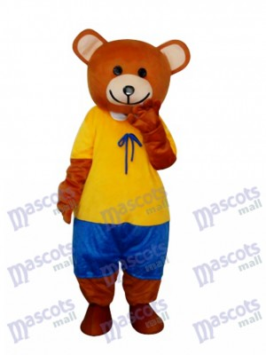 Ribbon Teddy Bear Mascot Adult Costume Animal