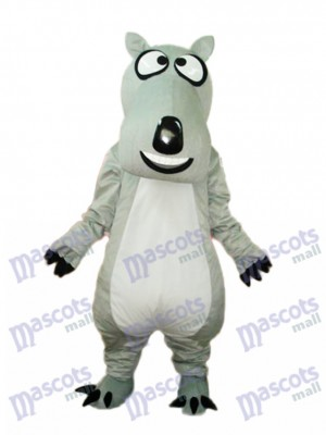 Grey Bear Luck Mascot Adult Costume Animal