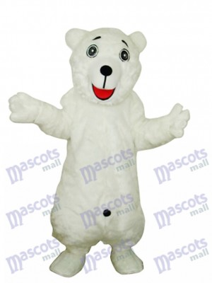 White Polar Bear Adult Mascot Costume Animal