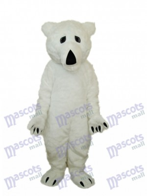 Long Wool Polar Bear Mascot Adult Costume Animal