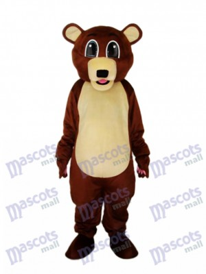 Big Eyes Brown Bear Mascot Adult Costume Animal