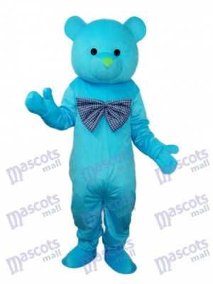 Happy Blue Bear Mascot Adult Costume Animal