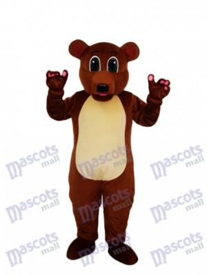 Golden Brown Bear Mascot Adult Costume Animal