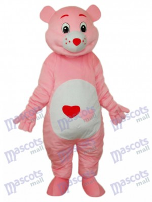 Bear with Red Heart Mascot Adult Costume Animal