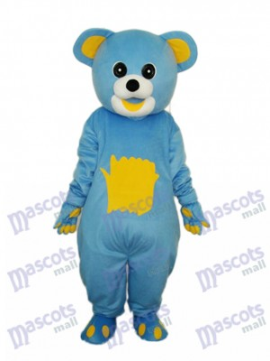 Yellow Belly Blue Bear Mascot Adult Costume Animal