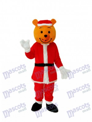 Yellow Christmas Bear Mascot Adult Costume Animal