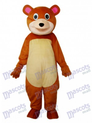 Round Mouth Bear Mascot Adult Costume Animal