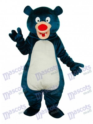 Blue Bear Mascot Adult Costume Animal