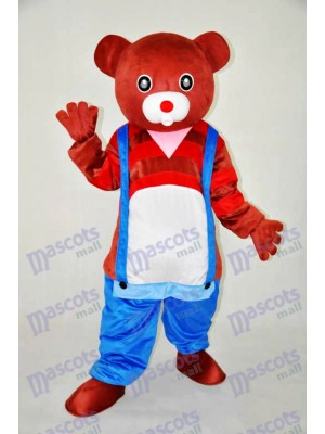 Brown Bear Teddy Bear Mascot Adult Costume Animal