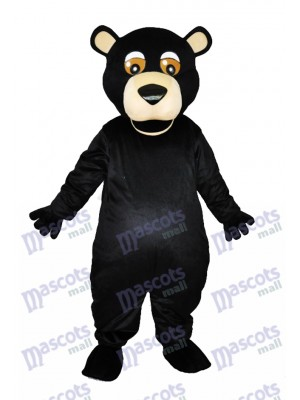 Round Mouth Black Bear Adult Mascot Costumes Animal