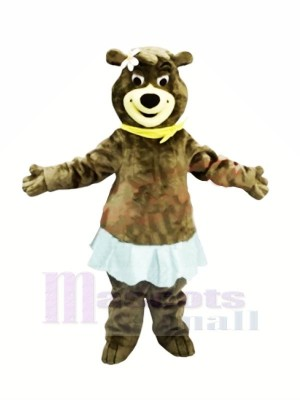 Female Bear with Blue Skirt Mascot Costumes Animal